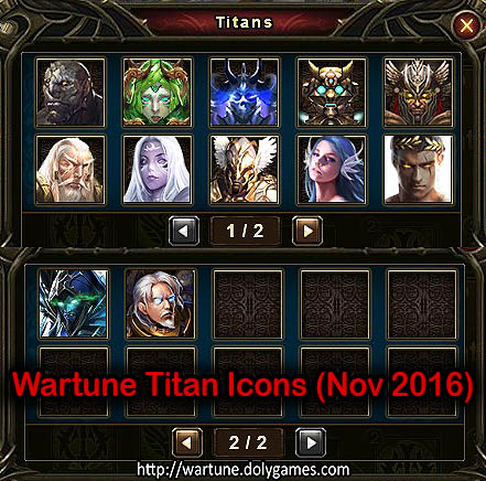 Wartune Titan Icons (Nov 2016)
