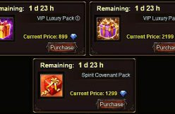VIP and Spirit Pack offers