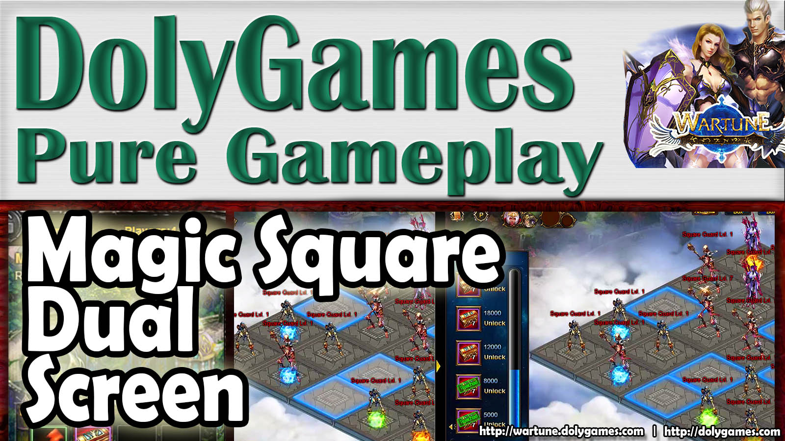 Wartune Gameplay Magic Square Dual Screen (Patch 6.3)