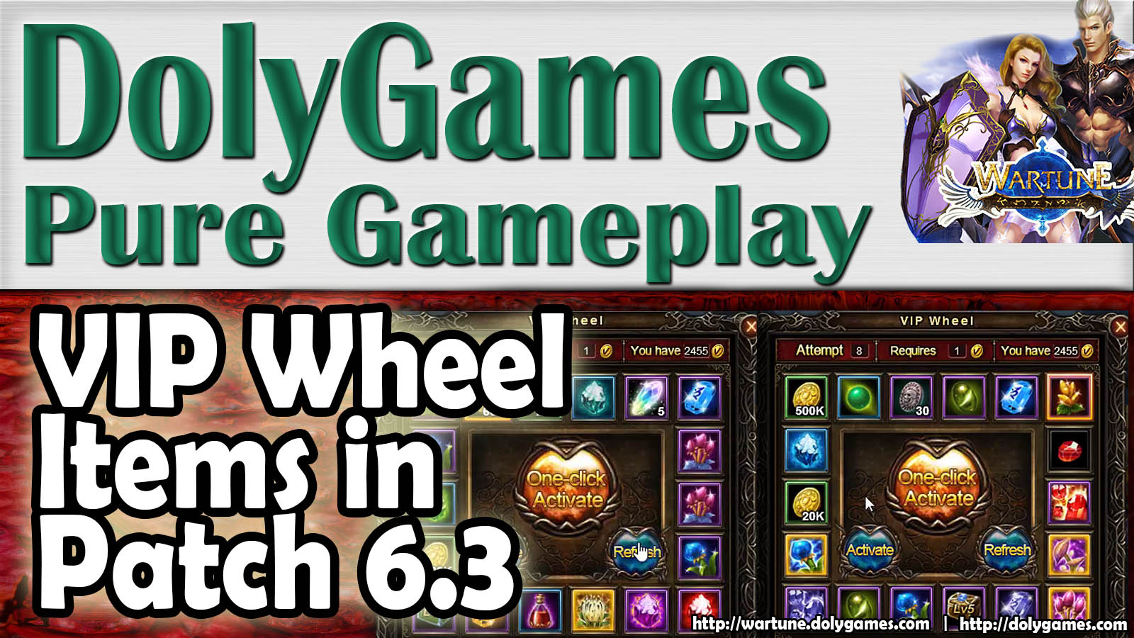 Wartune VIP Wheel Items Patch 6.3