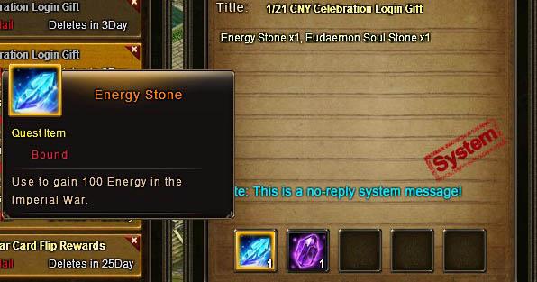 Energy Stone item Wartune