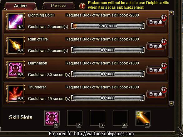 DarkDealer Eudaemon skill setup Titan Temple