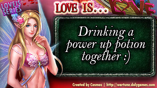 LOVE IS SERIES power up potion