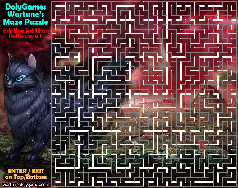 Maze Puzzle - Moonlight Kitten's Escape