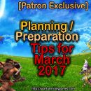 [Patron Exclusive] Prepping Suggestions for March & Patch 6.5