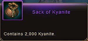 Sack of Kyanite item Wartune