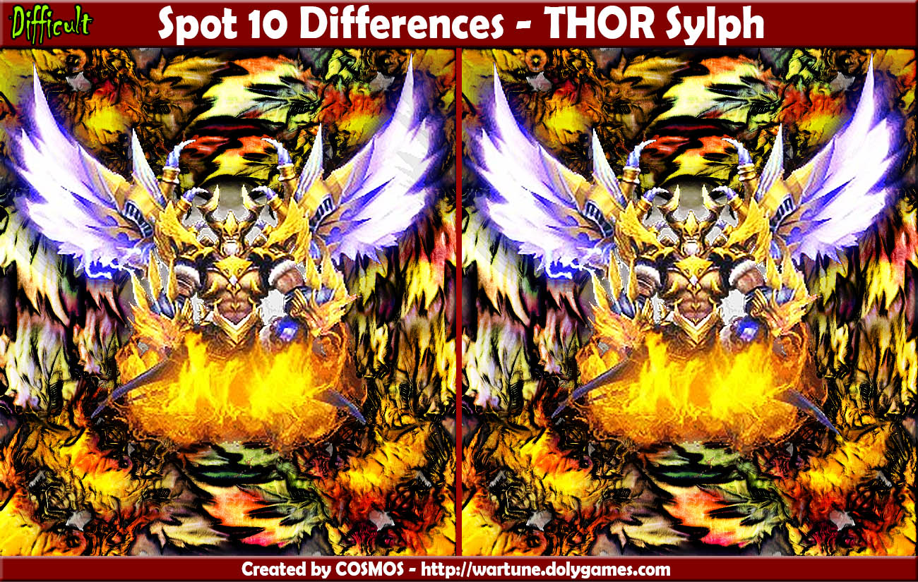 Spot 10 Differences - THOR Sylph