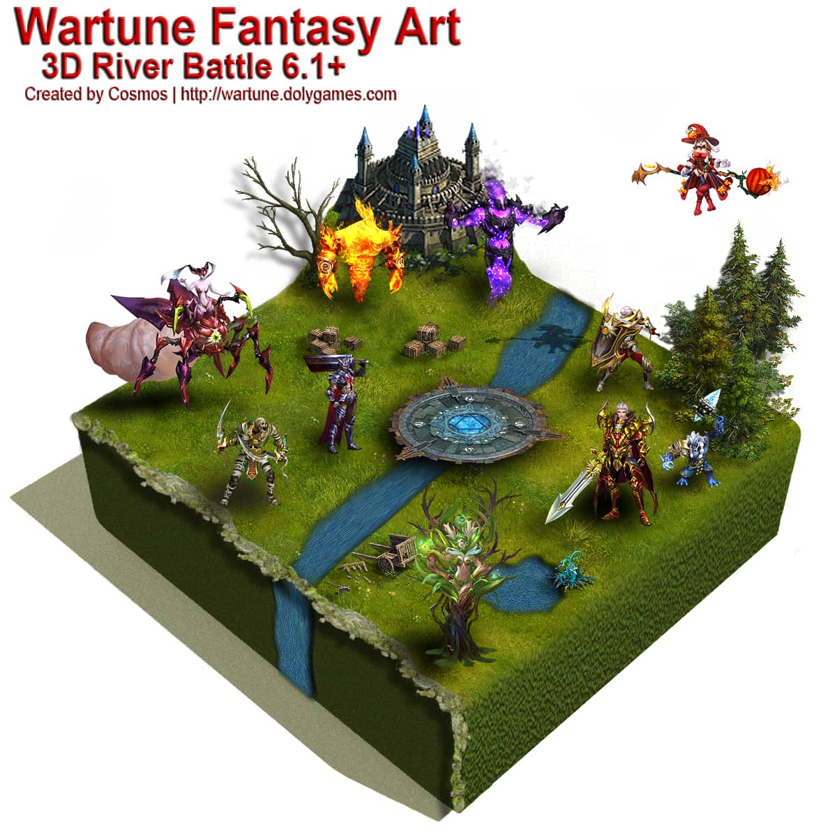Wartune Fantasy Art 3D River Battle 6.1+ by COSMOS