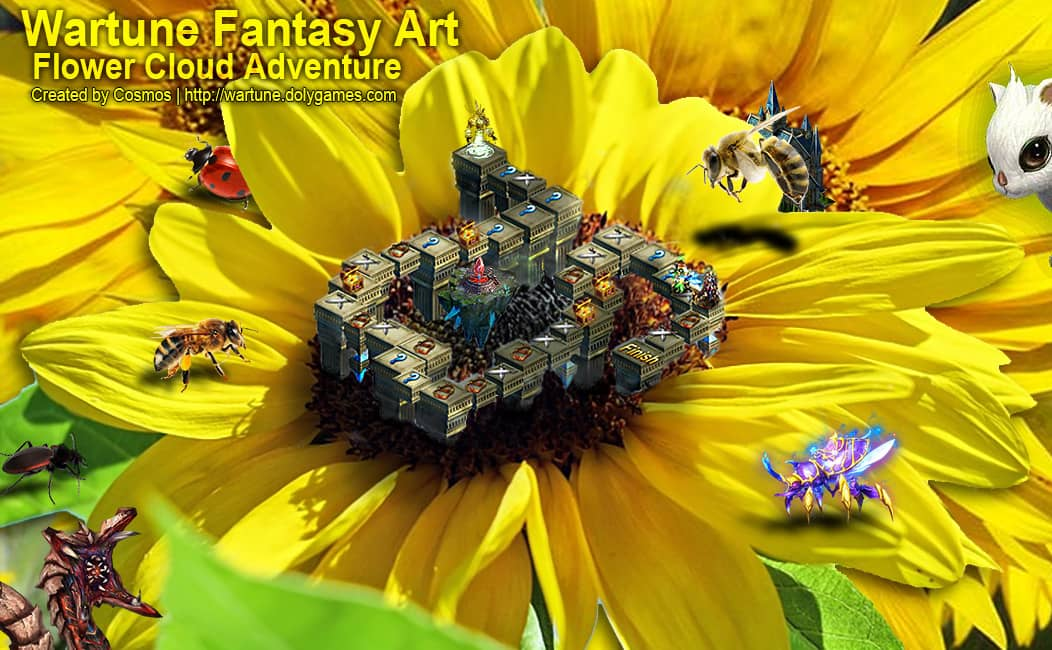 Wartune Fantasy Art Flower Cloud Adventure by COSMOS