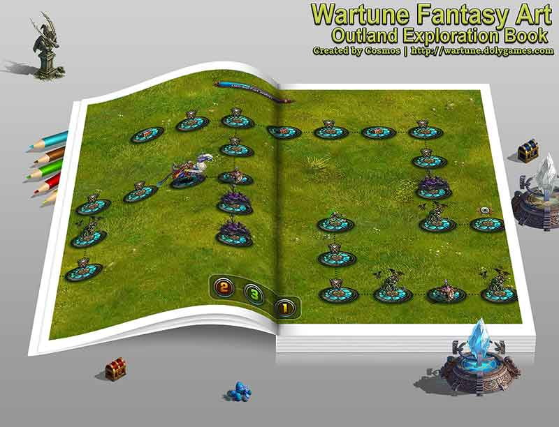 Wartune Fantasy Art Outland Exploration Book by COSMOS