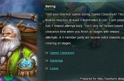 Wartune Patch 6.5 Speed Clearance Beling NPC chat