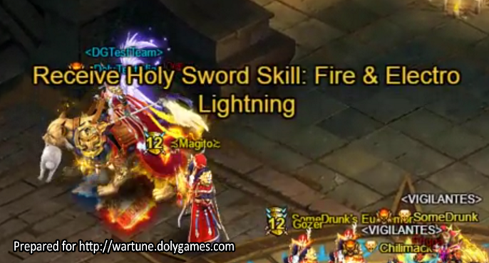 Wartune Patch 6.5 Holy Sword Temple Picking Up Buff