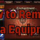 How to Delete Legendary Equipment
