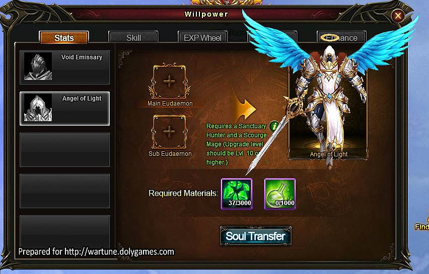 Angel of Light window info
