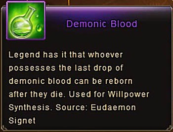 Demonic Blood item Wartune Patch 7.0