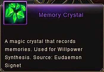 Memory Crystal item Wartune Patch 7.0