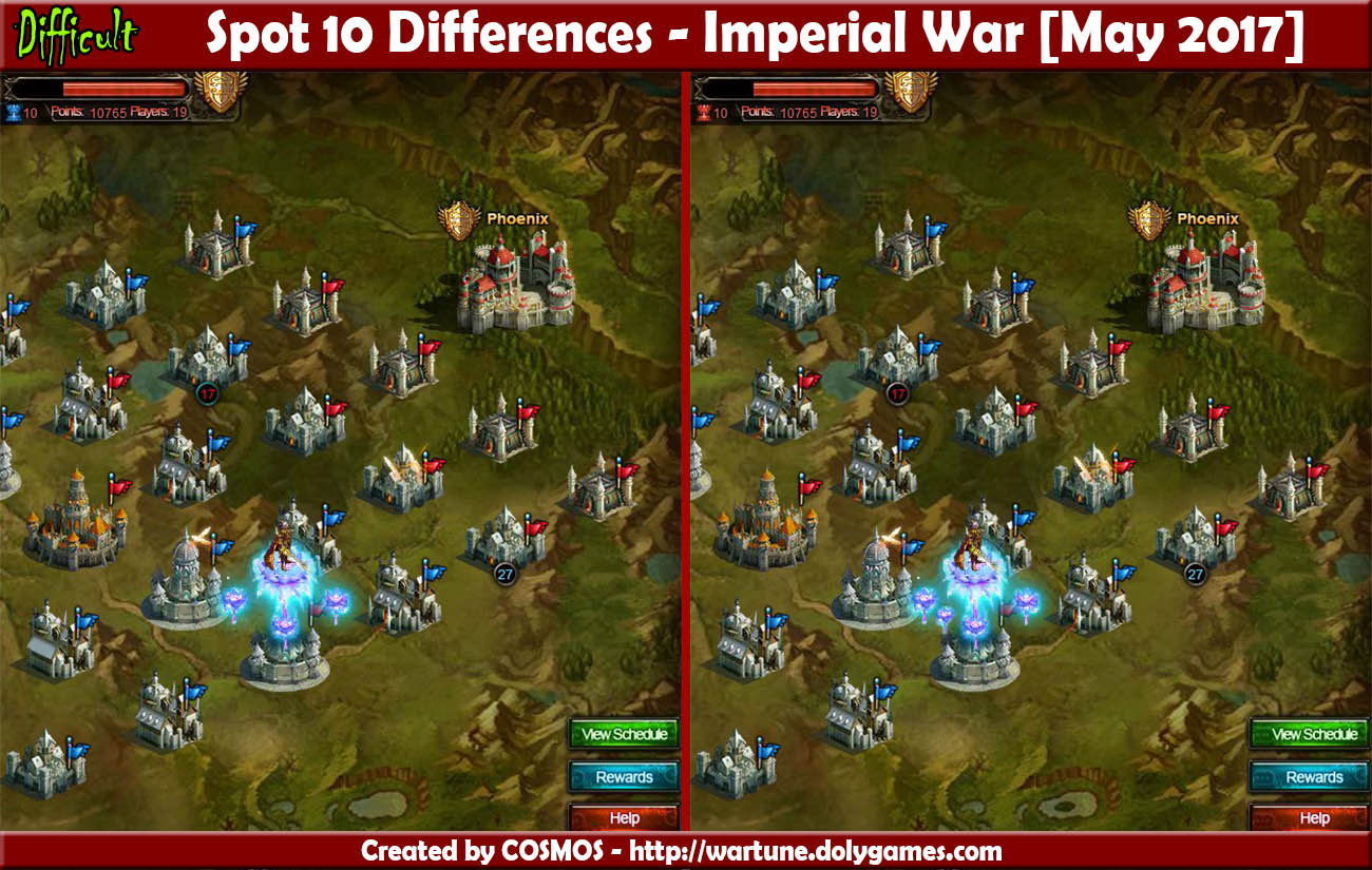 Spot 10 Differences - Imperial War May 2017