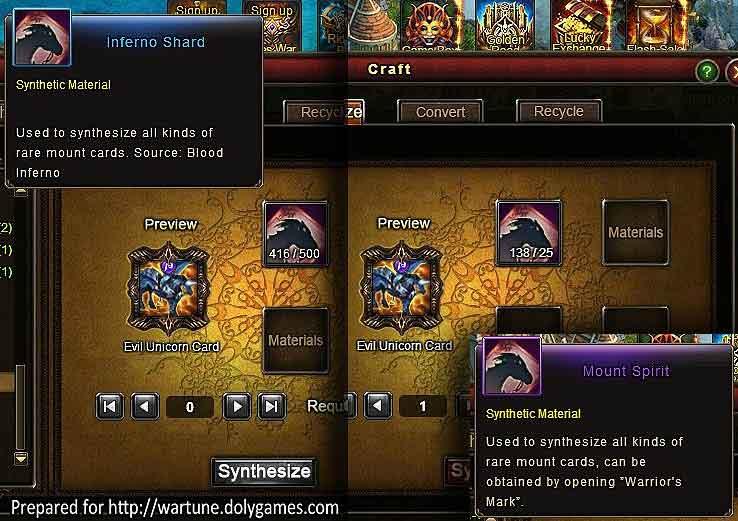 Blacksmith removed mounts Evil Unicorn Card 1