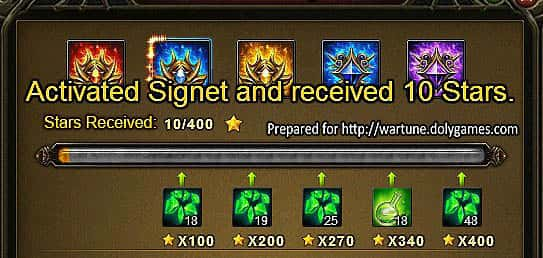 Wartune Patch 7.0 Eudaemon Signet Guide 10 stars