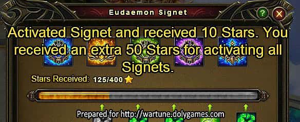 Wartune Patch 7.0 Eudaemon Signet Guide 50 stars