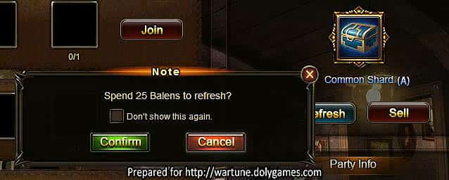 Wartune Patch 7.0 Gift Box  Gift Party Guide refresh cost