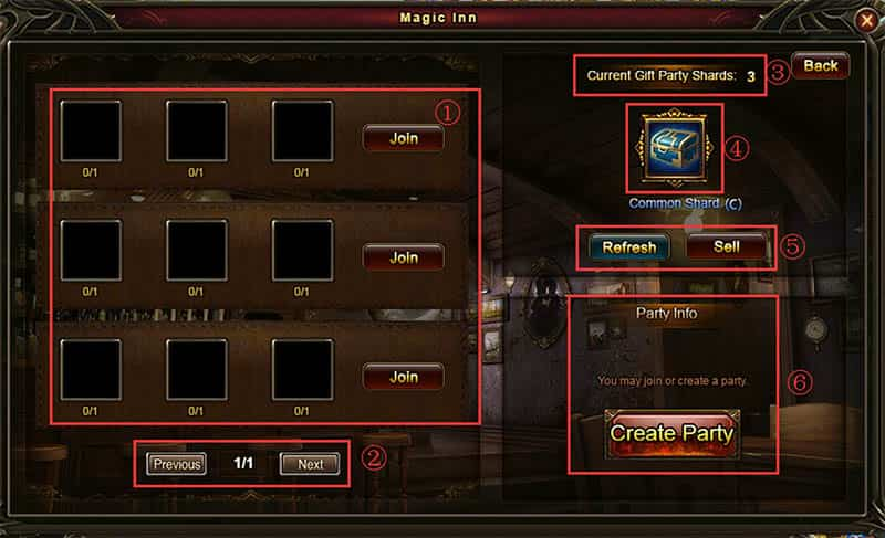 Wartune Patch 7.0 Gift Box  Gift Party Guide window