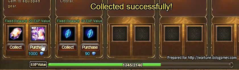 Wartune Patch 7.0 New Experience System Guide EXP Value 7