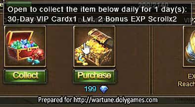 Wartune Patch 7.0 New Experience System Guide VIP Pack 9
