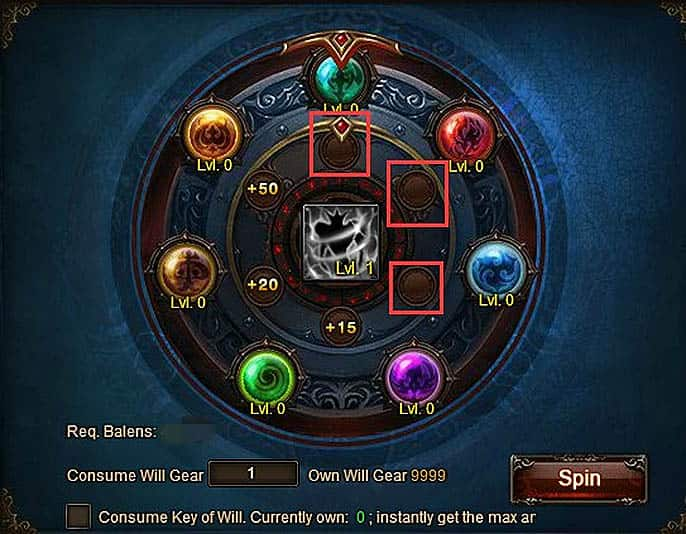 Wartune Patch 7.0 Willpower Guide EXP Wheel