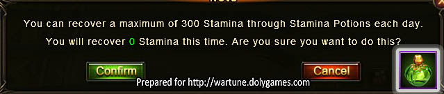 300 stamina maximum Wartune