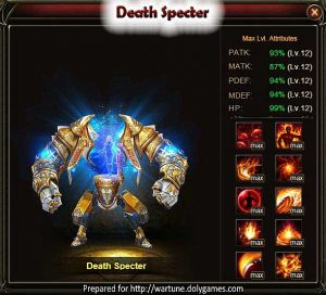 Death Specter Wartune Patch 7.5