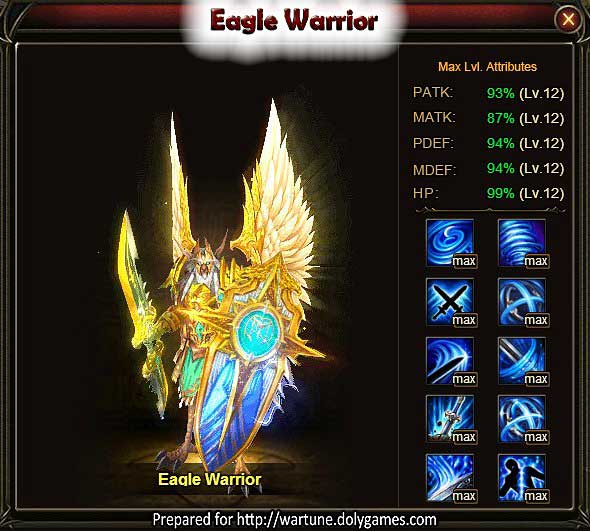 Eagle Warrior Wartune Patch 7.5