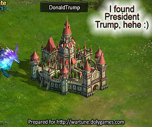 Wartune DonaldTrump fun castle