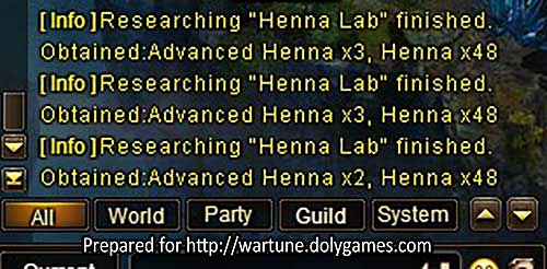 Wartune Patch 7.5 Henna Lab REFERENCE 4