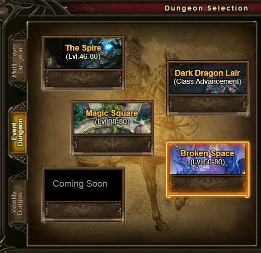 Dungeon Selection Wartune Patch 7.6 Broken Space