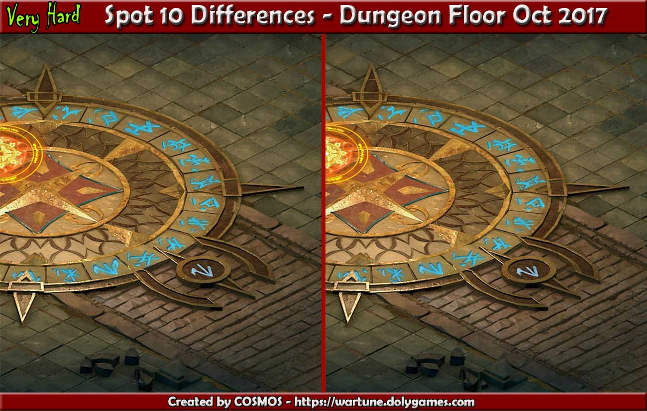 Spot 10 Differences - Dungeon Floor Oct 2017