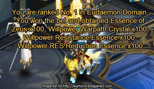 Wartune Patch 7.6 Olympus realm COSMOS rank 1 pic 2