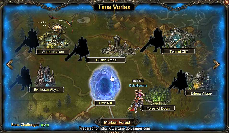 Wartune Patch 7.7 Time Vortex and Time Rift