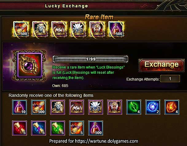 Eudaemon Lucky Exchange Drop Rates Report