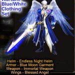Wartune Blue White Clothing Set (Javon)