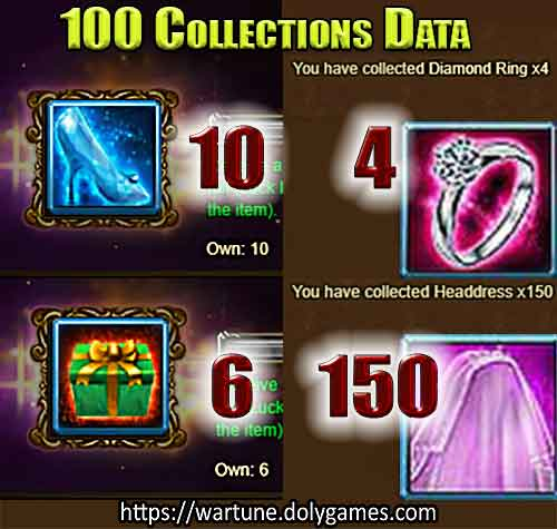 100 Collections Data Valentine's Day Gift Piles 9 FEB 2018