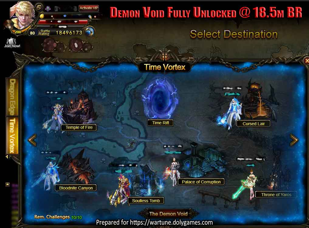 Demon Void Fully Unlocked @ 18.5m BR