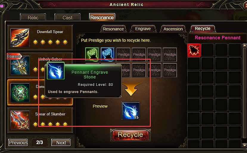 Recycle Pennants Wartune Patch 7.7.2