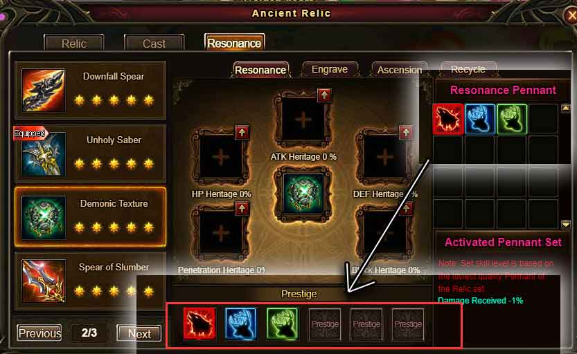 Relic Pennants Wartune Patch 7.7.2
