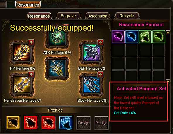 Relic Sets Effects Wartune Patch 7.7.2