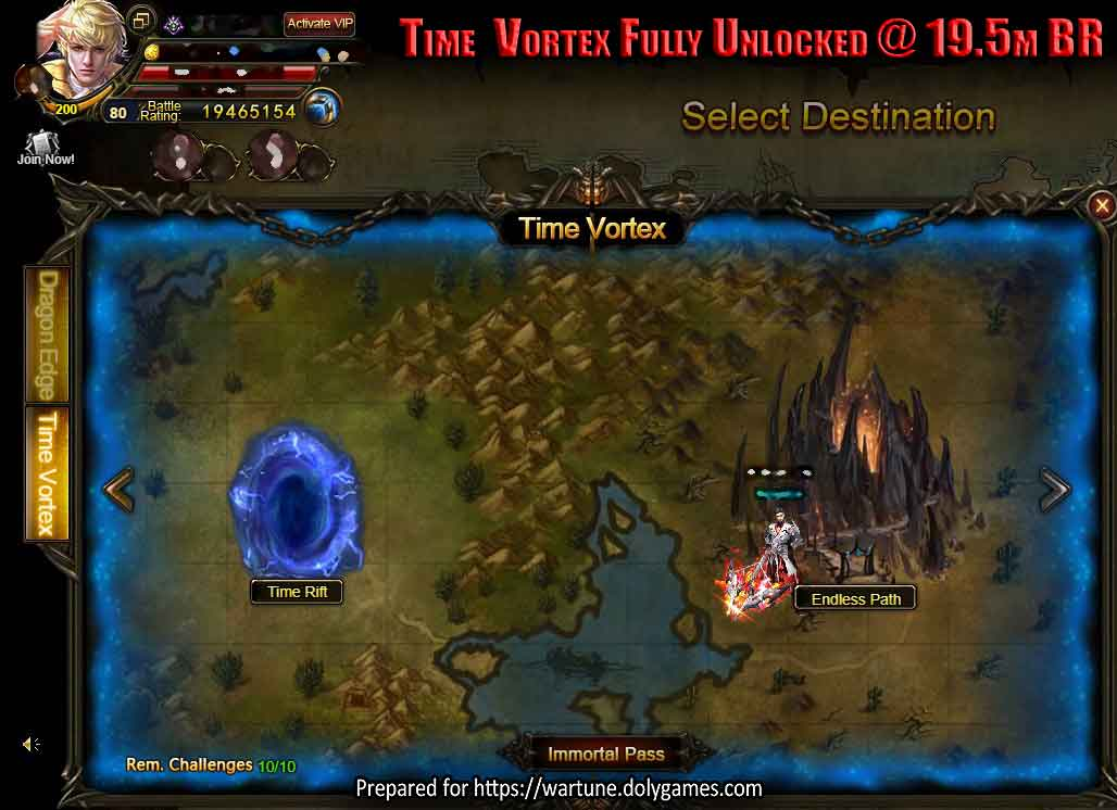 Time  Vortex Fully Unlocked @ 19.5m BR