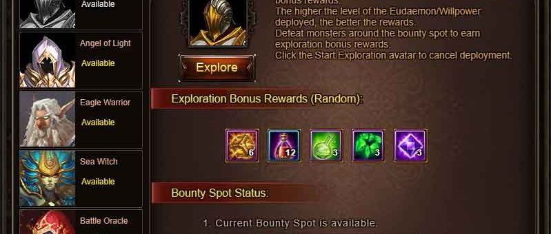 Wartune Patch 7.8 Eudaemon Patrol BOUNTY & EXPLORE Guide