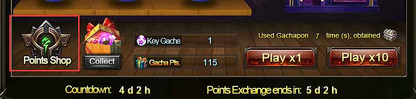 Wartune Patch 7.8 GACHA GACHAPON Guide Points Shop