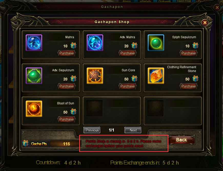 Wartune Patch 7.8 GACHA Guide Gachapon Shop