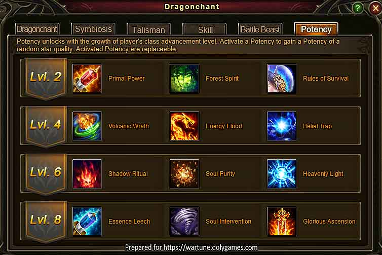 Dragonchant Potency Guide - Wartune 7.8.2 -1
